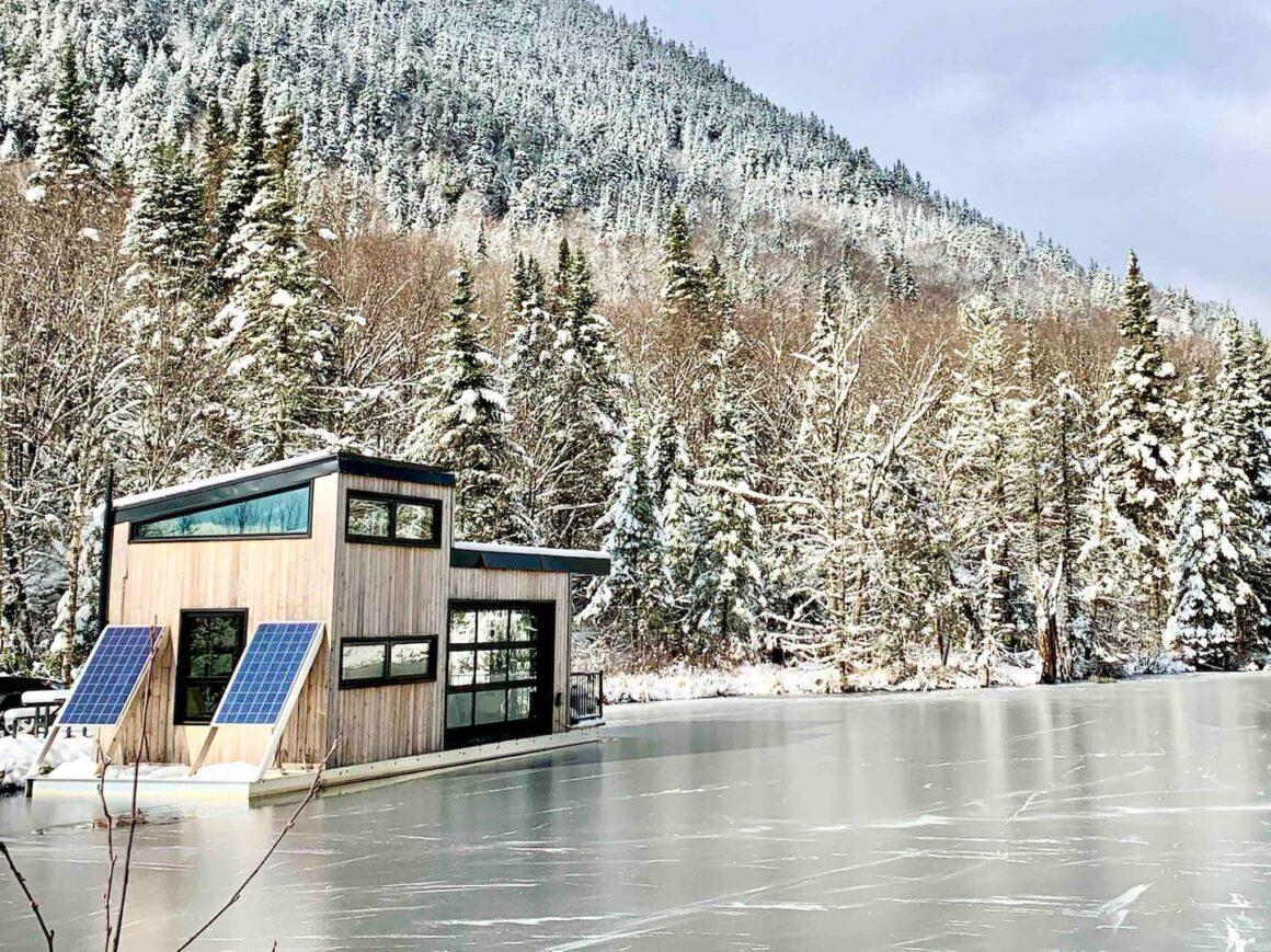 unique airbnb quebec Bora Boréal Floating Home