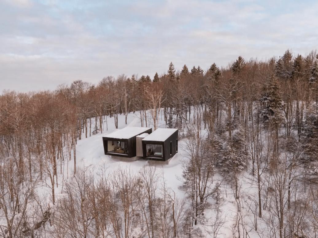 unique airbnb quebec Magnifique chalet darchitecte à flanc de falaise