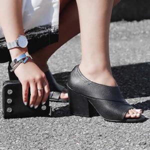 Peep-Toe Sandal
