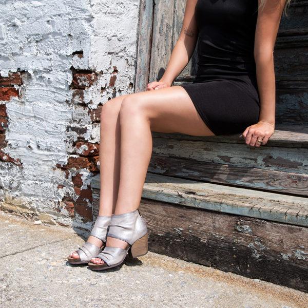 OTBT Patchouli Bright Silver Heeled Sandal Far away