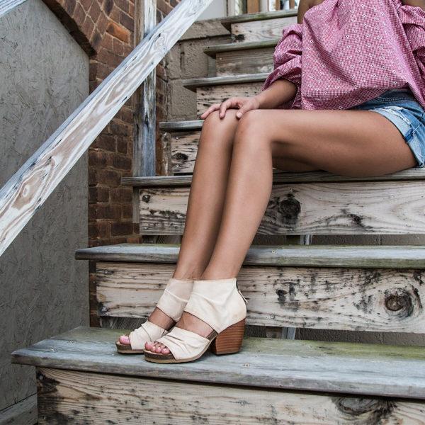 OTBT Patchouli Ivory Sandal Heel