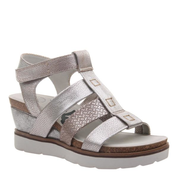 OTBT New Moon Silver Wedge Sandal
