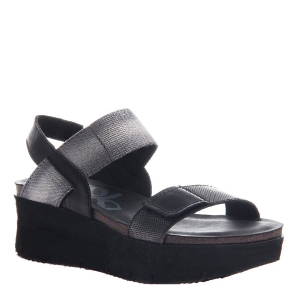 OTBT Nova Black Wedge Sandal