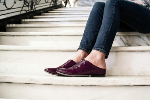 Fondo Naked Feet Slip-On Mule Eggplant