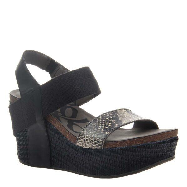 OTBT Bushnell wedge sandal black black