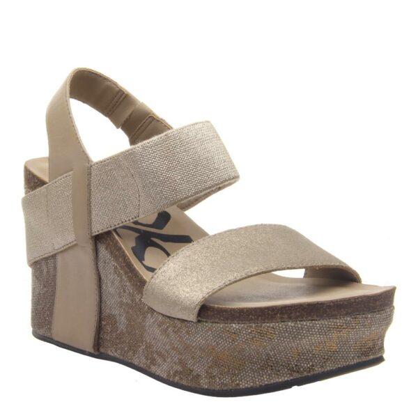 OTBT Bushnell wedge sandal taupe
