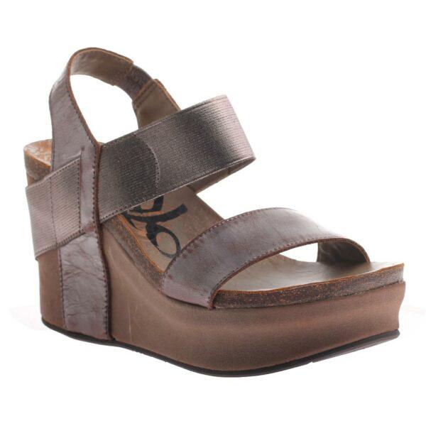 OTBT Bushnell wedge sandal pewter