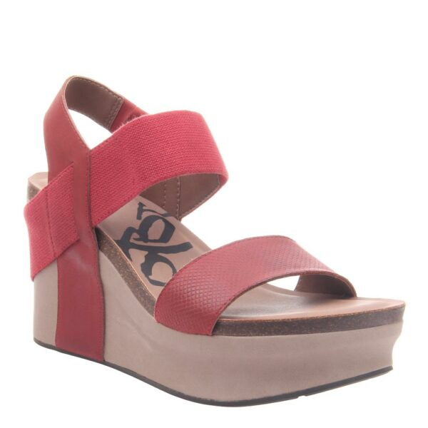 OTBT Bushnell wedge sandal red
