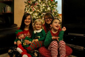 All of our Happy Elves at Christmas time