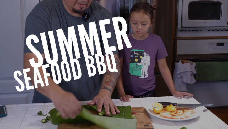 seafood bbq, seafood cooking, cooking video
