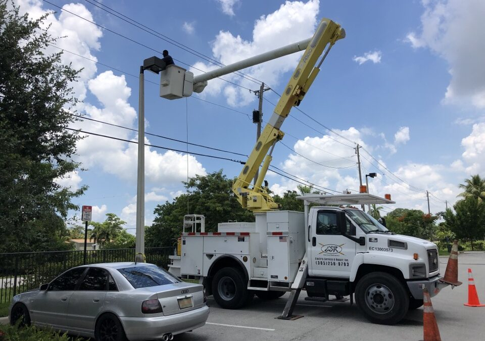 parkinglot lighting repair miami fl