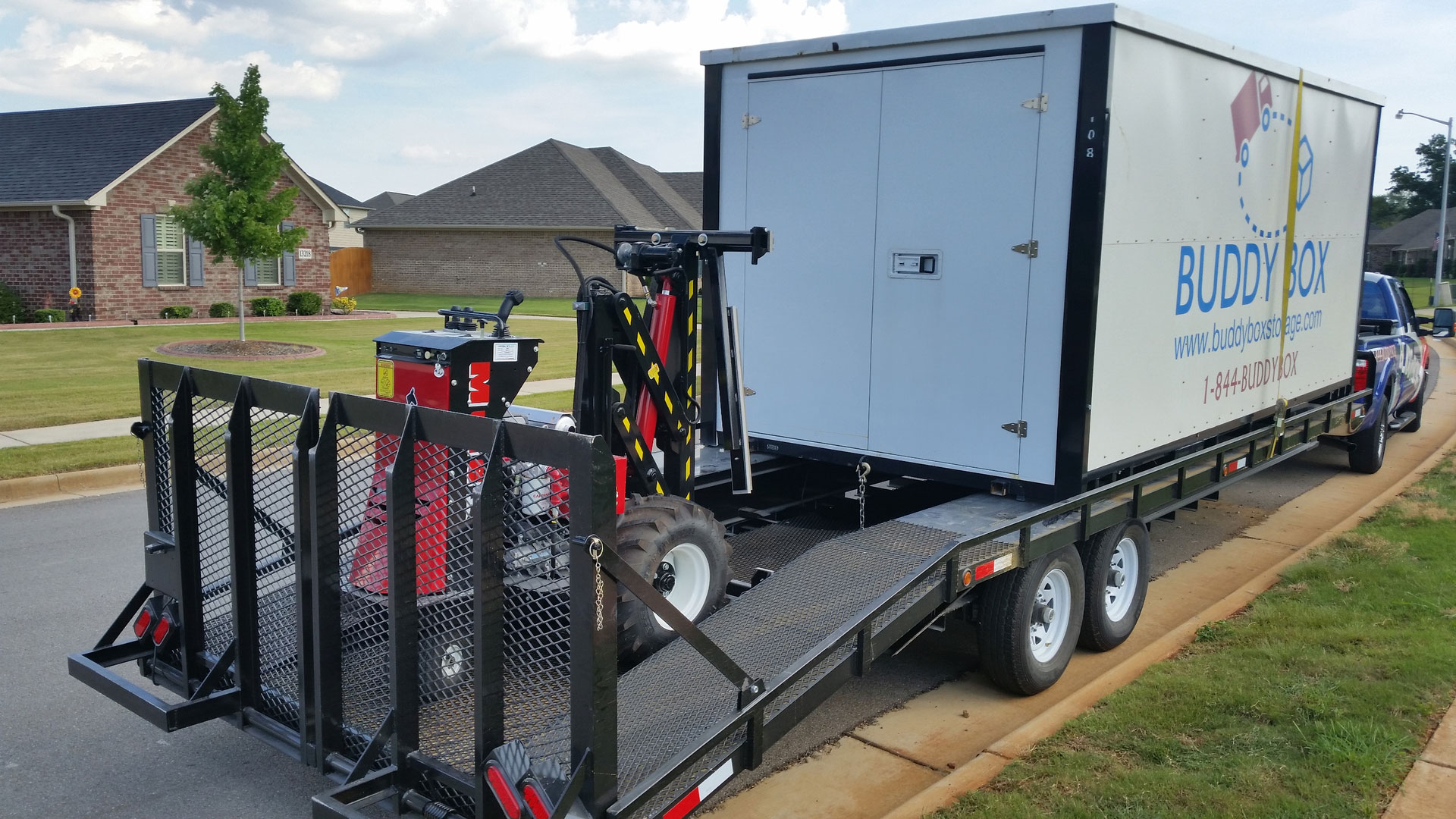 On-site portable storage for clean-up and restoration services
