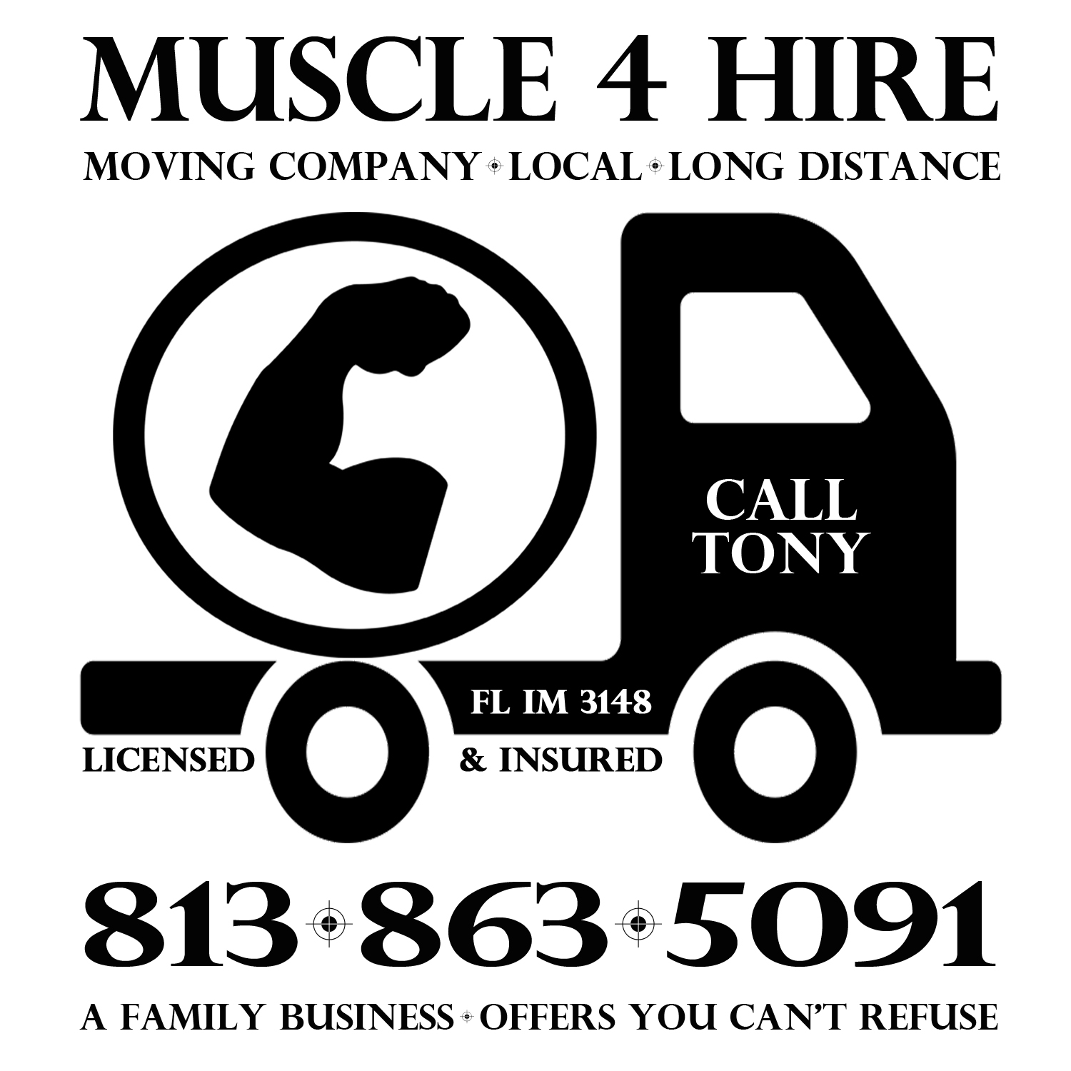 Muscle 4 Hire Moving, LLC – Licensed and Insured