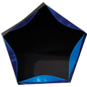 BLACK/BLUE LUMINARY STAR ACRYLIC