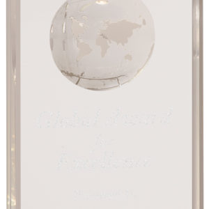 "6"" PREMIER CRYSTAL RECTANGLE WITH GLOBE"