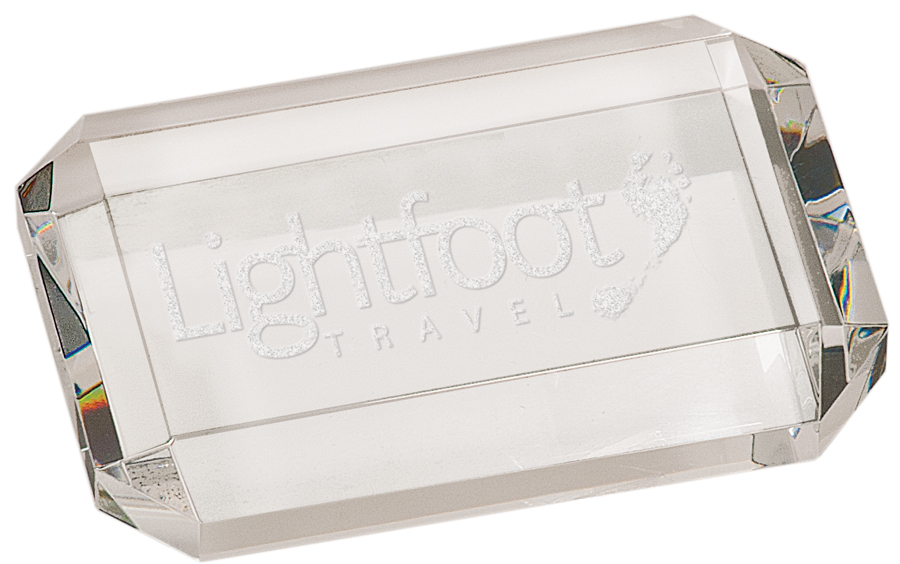 4 X 2 3/4 X 3/4 PREMIER CRYSTAL RECTANGLE PAPERWEIGHT