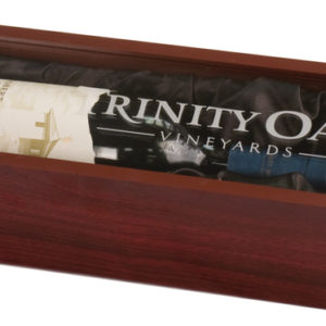 ROSEWOOD SINGLE WINE BOX WITH ACRYLIC LID