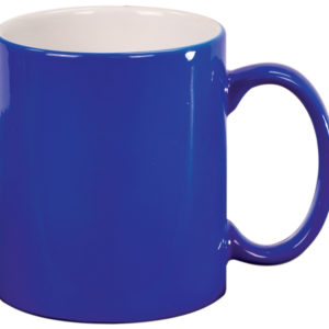 11 OZ BLUE ROUND LAZERMUGS