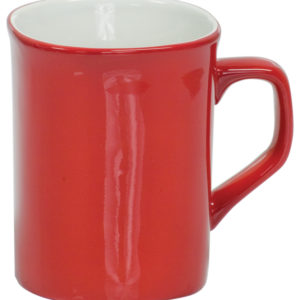 10 OZ RED ROUNDED CORNER LAZERMUGS
