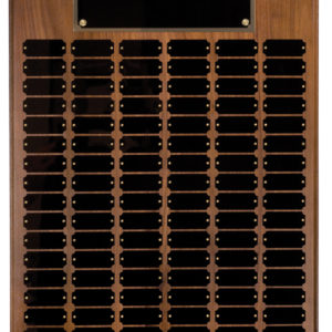 102 PLATE STEP EDGE GENUINE WALNUT PERPETUAL PLAQUE