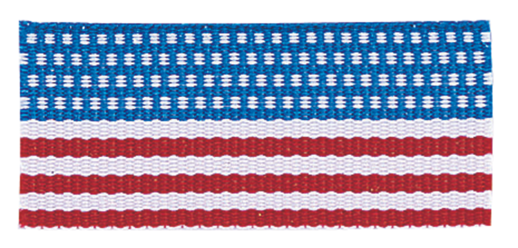 FLAG NECK RIBBON WITH SNAP CLIP