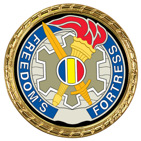 GOLD DOUBLE SIDED ROPE EDGE CHALLENGE COIN