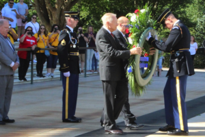 9 Sep - President General Guzy Presents Wreath at the Tomb of the Unknown Soldier