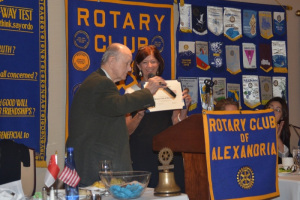 Rotary Club of Alexandria Commendation - 15 Oct 2019