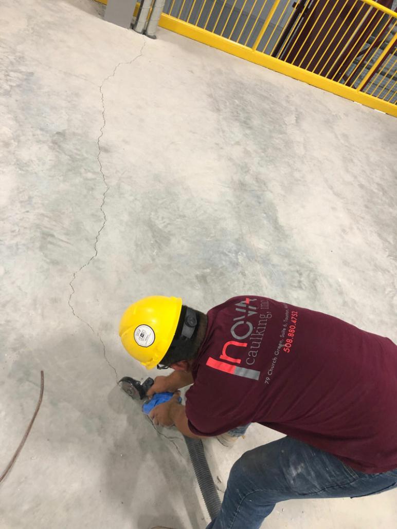 Nova Caulking Employee at work