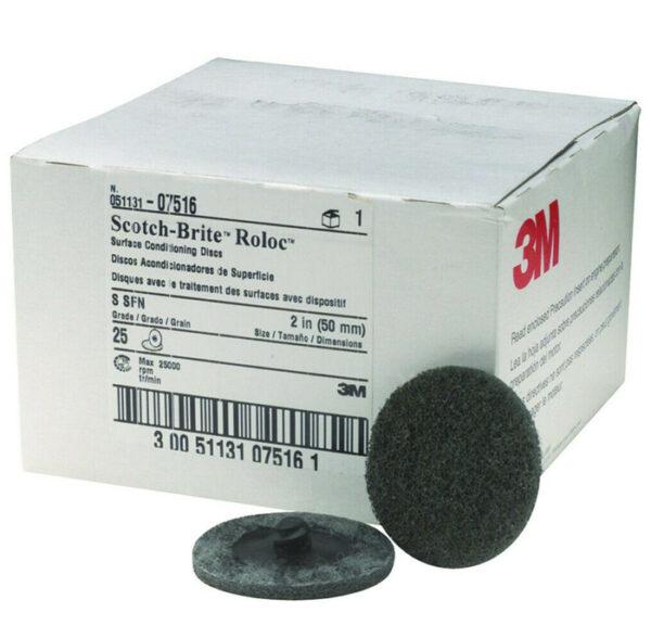 25 Pack 2 Roloc Surface Conditioning Quick Change Sanding Discs Medium