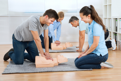 people having cpr training