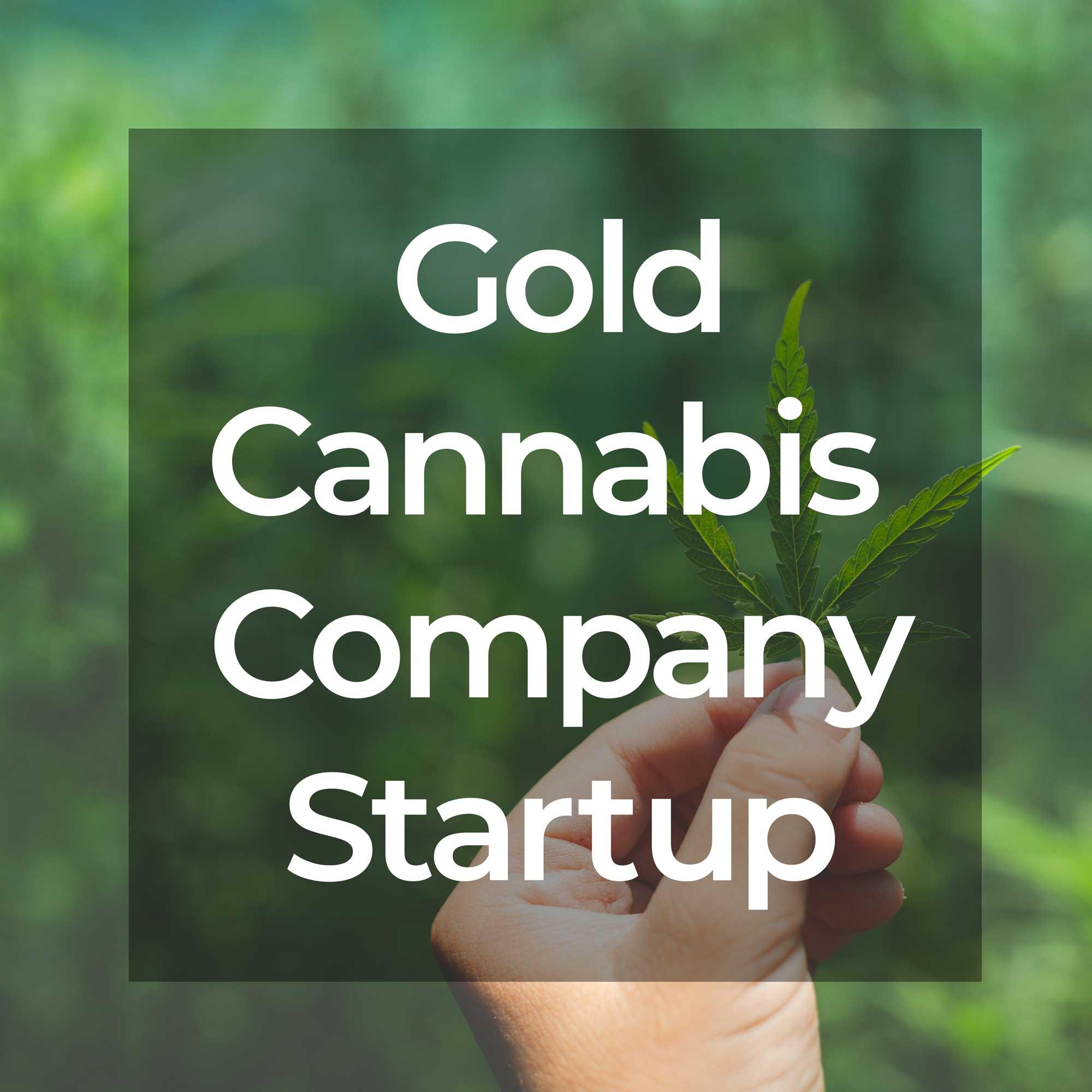 Gold Cannabis Company Startup