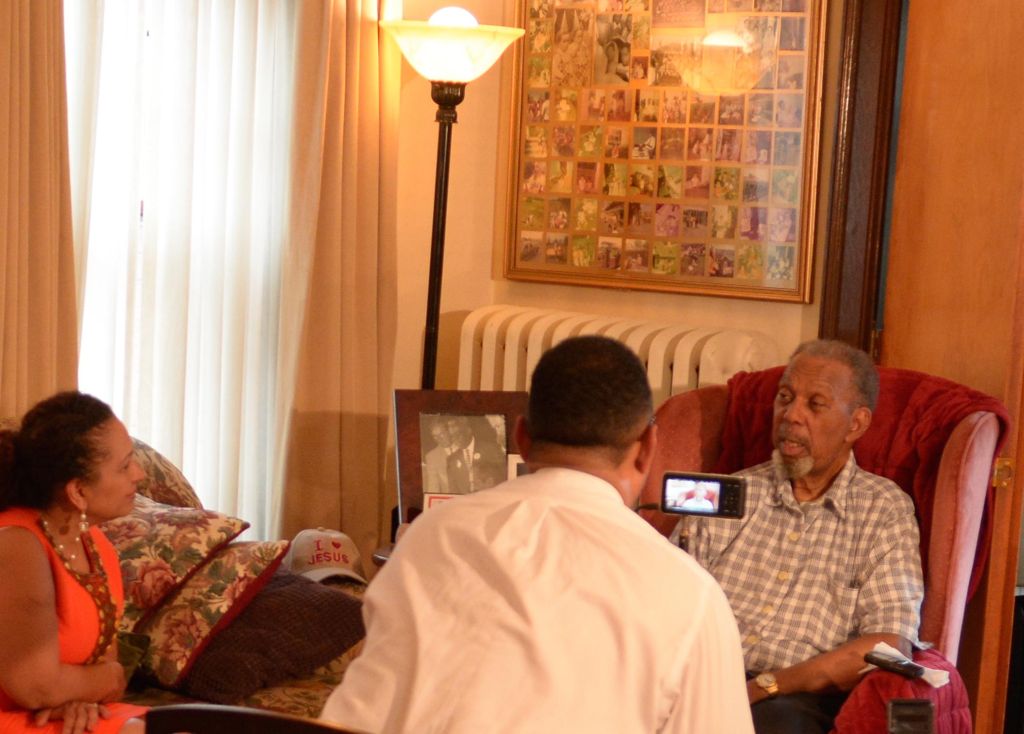 Mr. Even being interviewed by Nestor Montilla