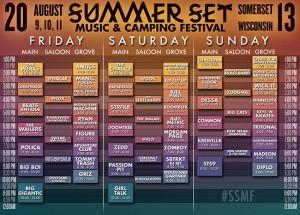 Summer Set Schedule