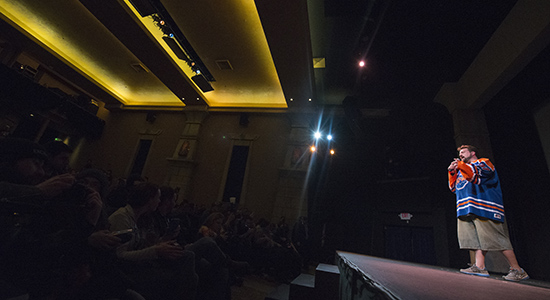 Kevin Smith - Live on stage at the Egyptian Theater at Sundance Film Festival 2014. Photo by: Matthew McGuire