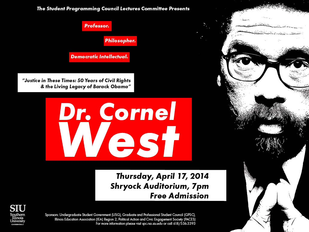 Dr. Cornel West at Shryock Auditorium