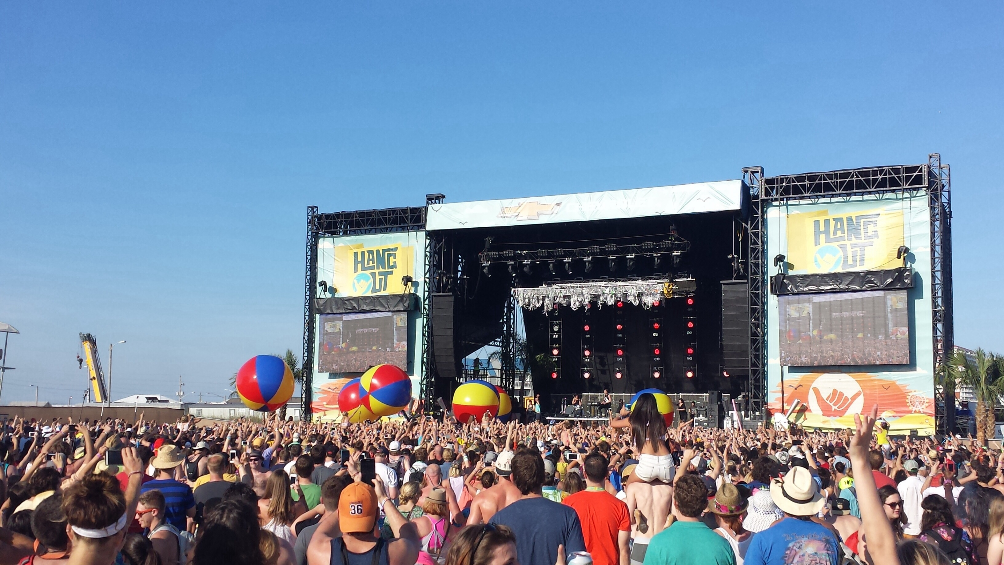Matt and Kim at Hangout Fest 2014. Photo by: Matthew McGuire