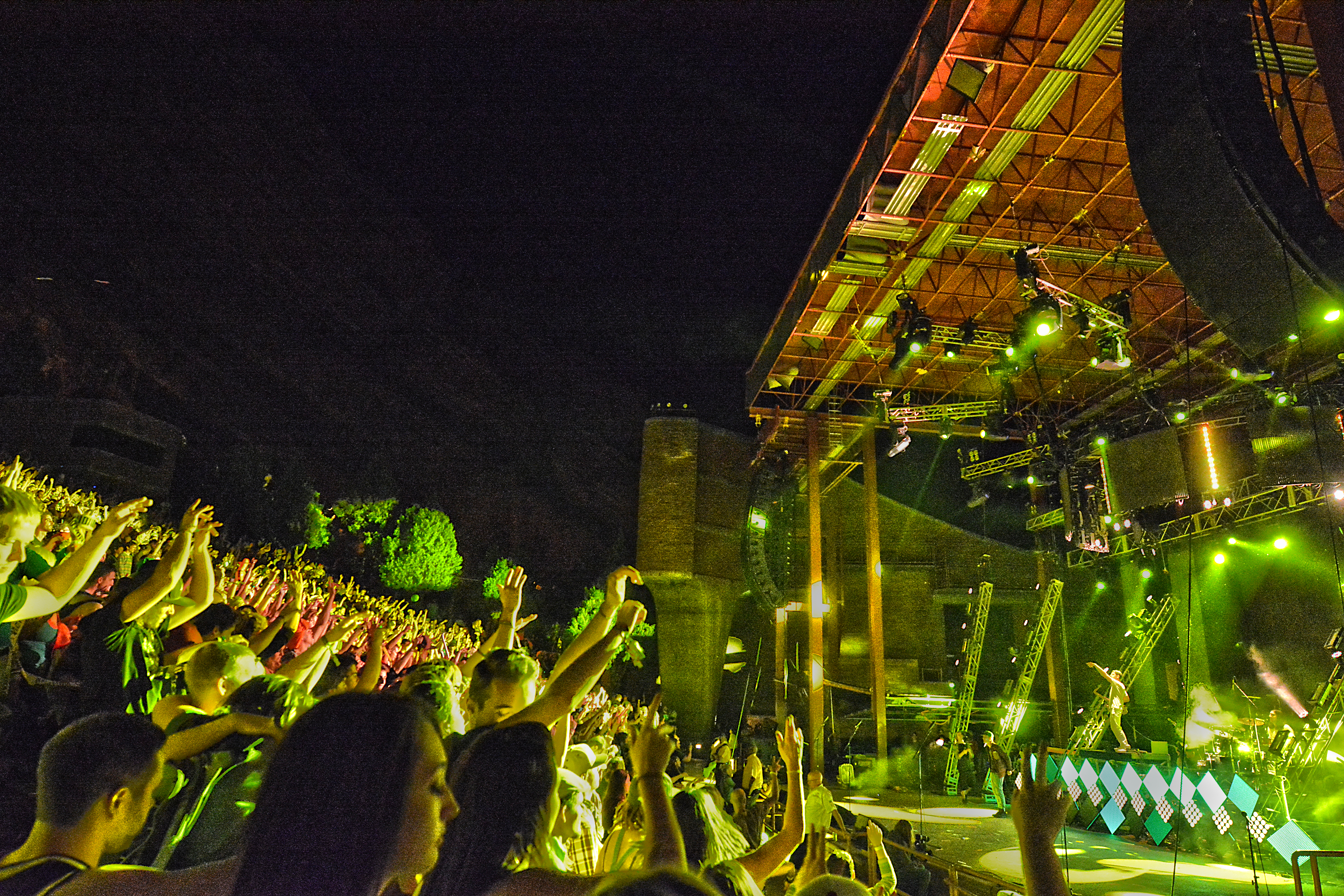 Big Gigantic performing at Rowdytown 3 at Red Rocks Amphitheatre. Photo by: Matthew McGuire