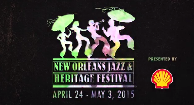 New Orleans Jazz Festival 2015 logo. Photo by: New Orleans Jazz Festival / YouTube