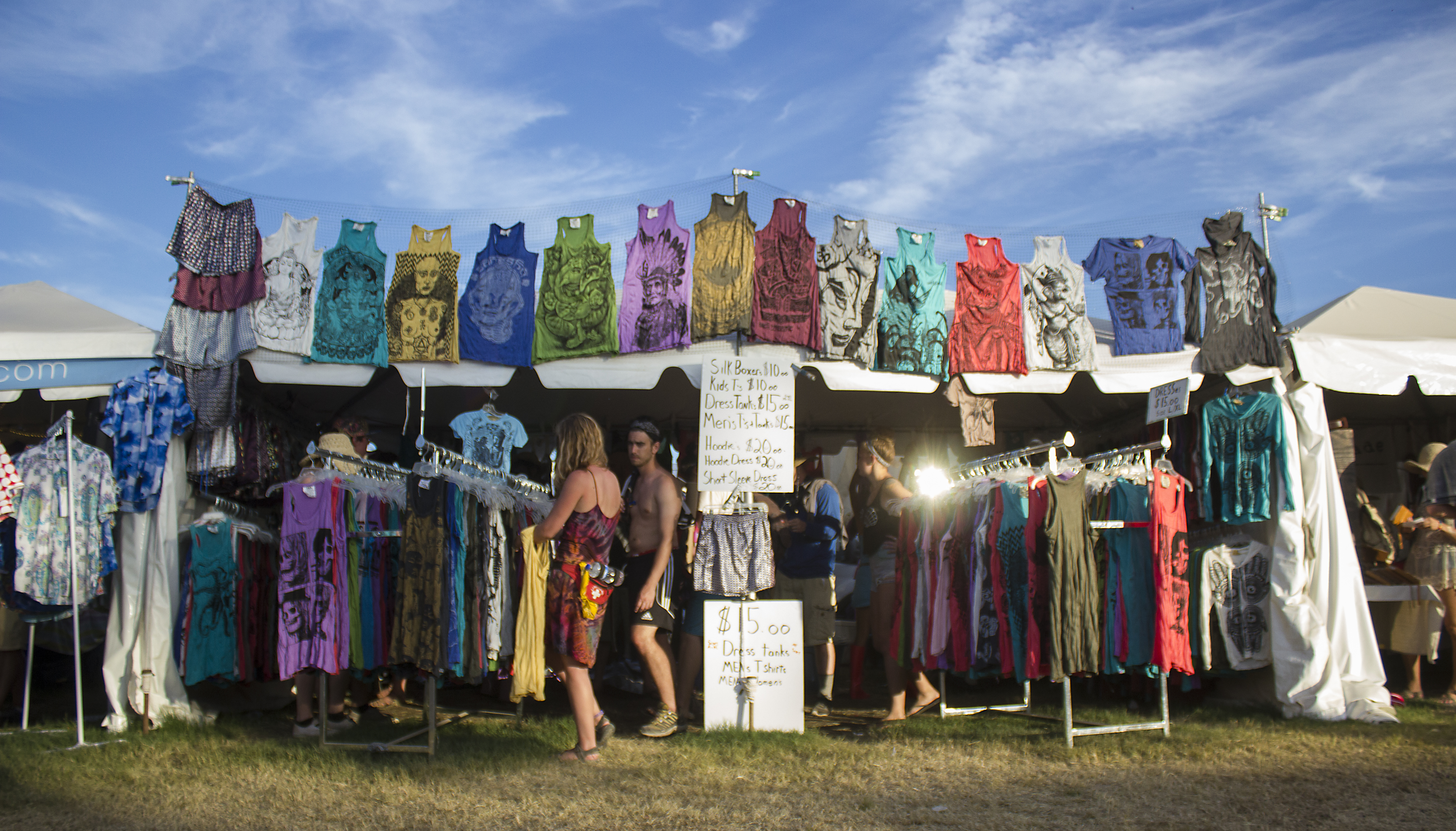 Merch and fashion at the Bonnaroo Music & Arts Festival in Manchester, Tennessee on 06/14/15. Photo by: Matthew McGuire.