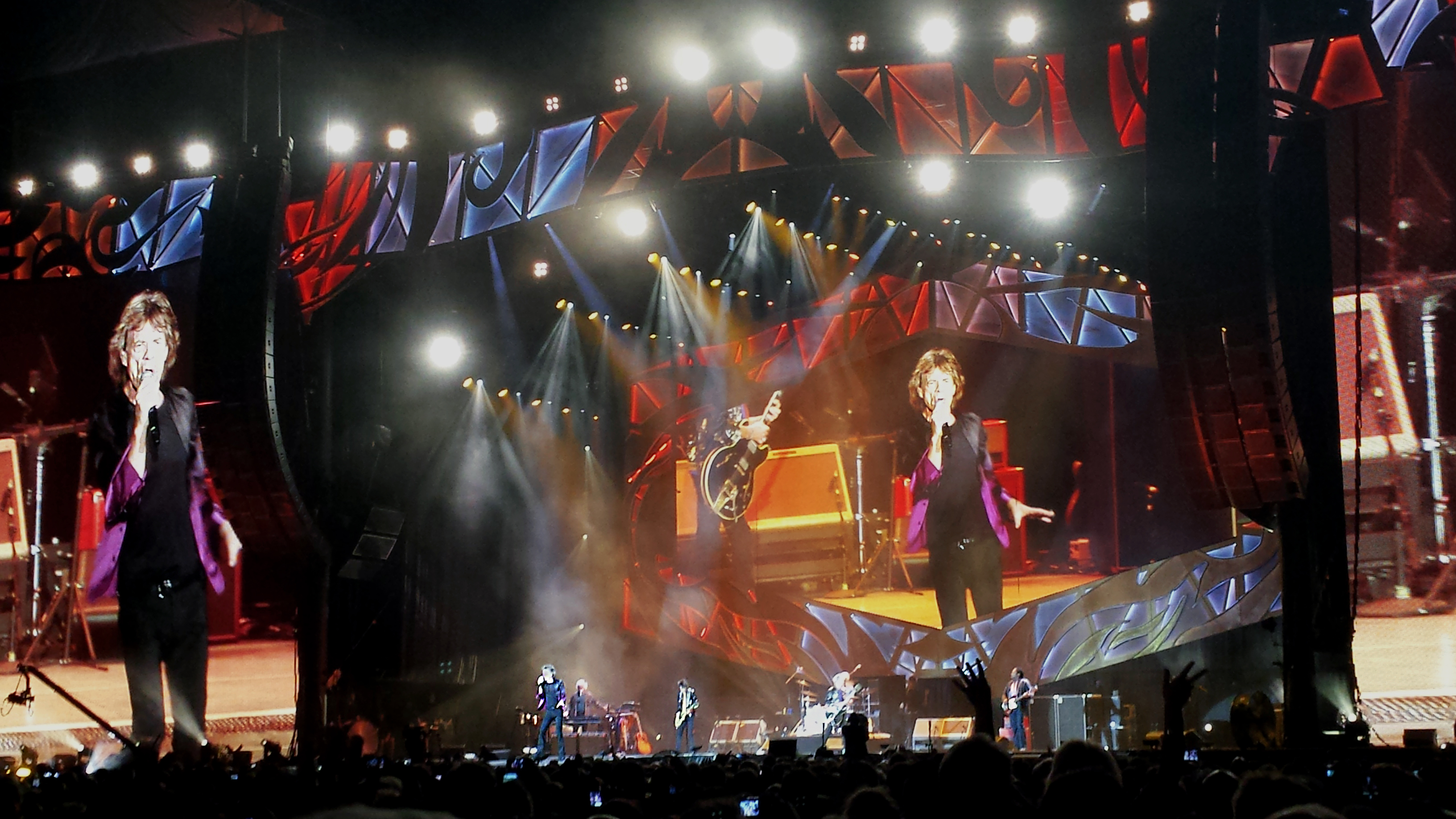 The Rolling Stones at LP Field in Nashville. Photo by: Matthew McGuire