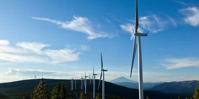 Amazon Web Services, wind farm. Image by: AWS