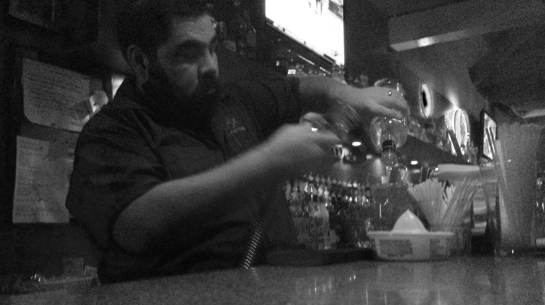 Daniel J. Enriquez. Former bartender at Hangar 9.