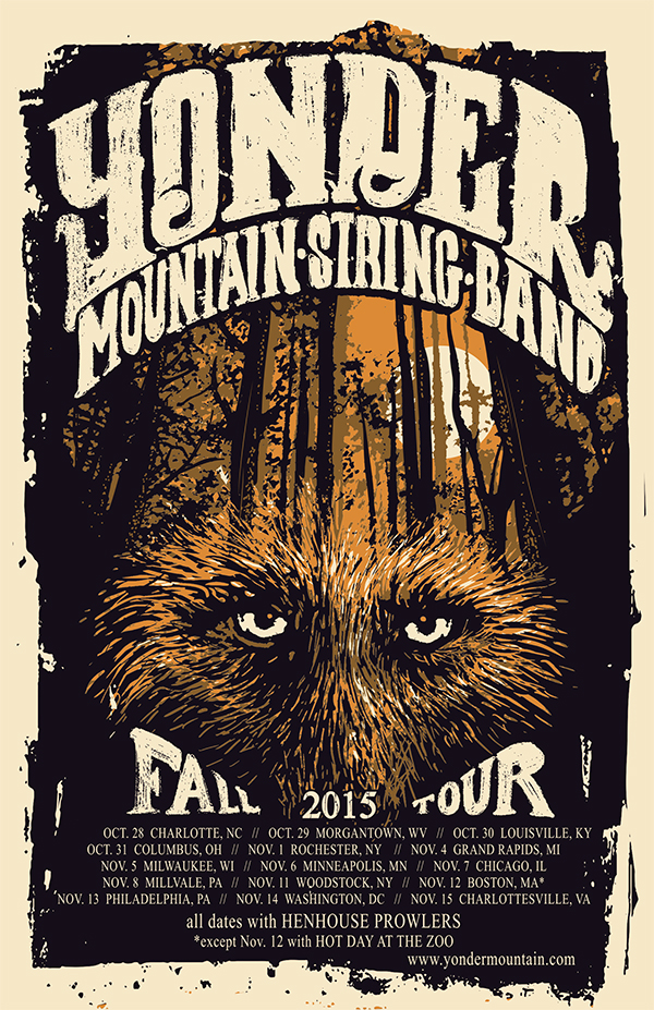 Yonder Mountain String Band fall tour 2015.