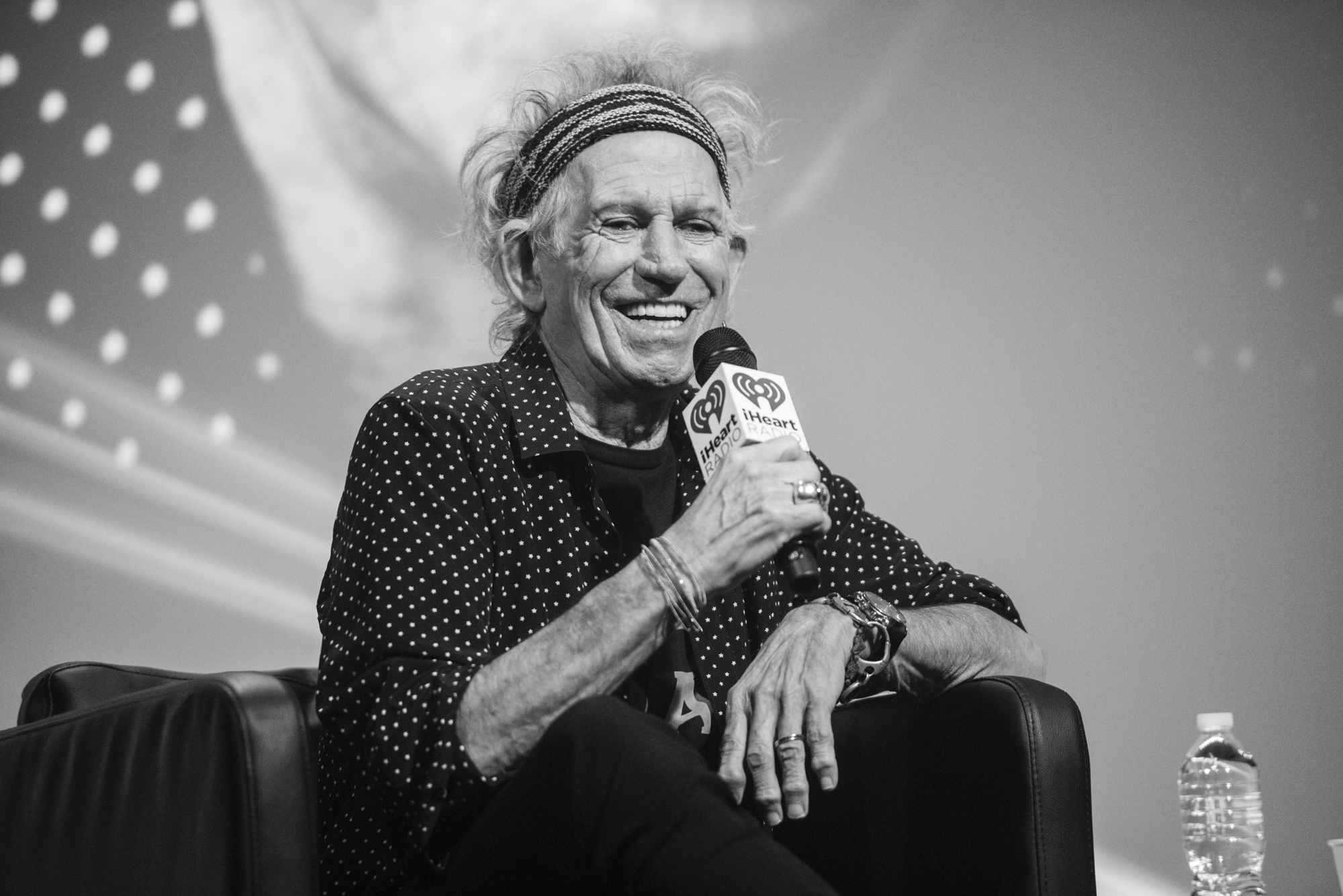 iHeartRadio ICONS with Jim Kerr interviewing Keith Richards. Photo by: XX for iHeartRadio