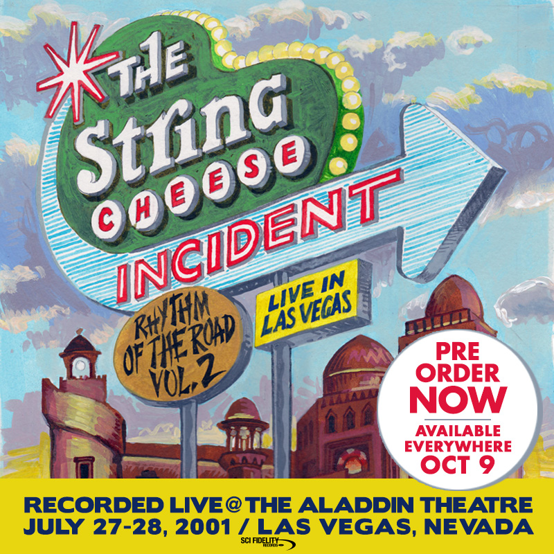 The String Cheese Incident, live album from Las Vegas cover art.