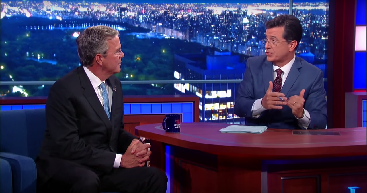 The Late Show with Stephen Colbert. Image by CBS / YouTube
