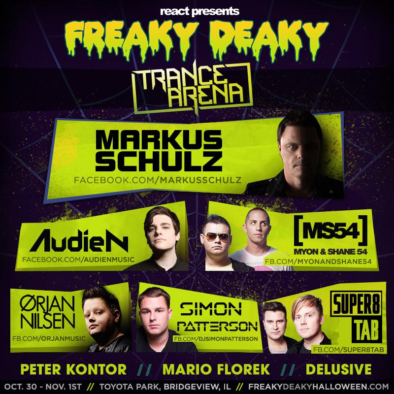 Freak Deaky stage lineup.