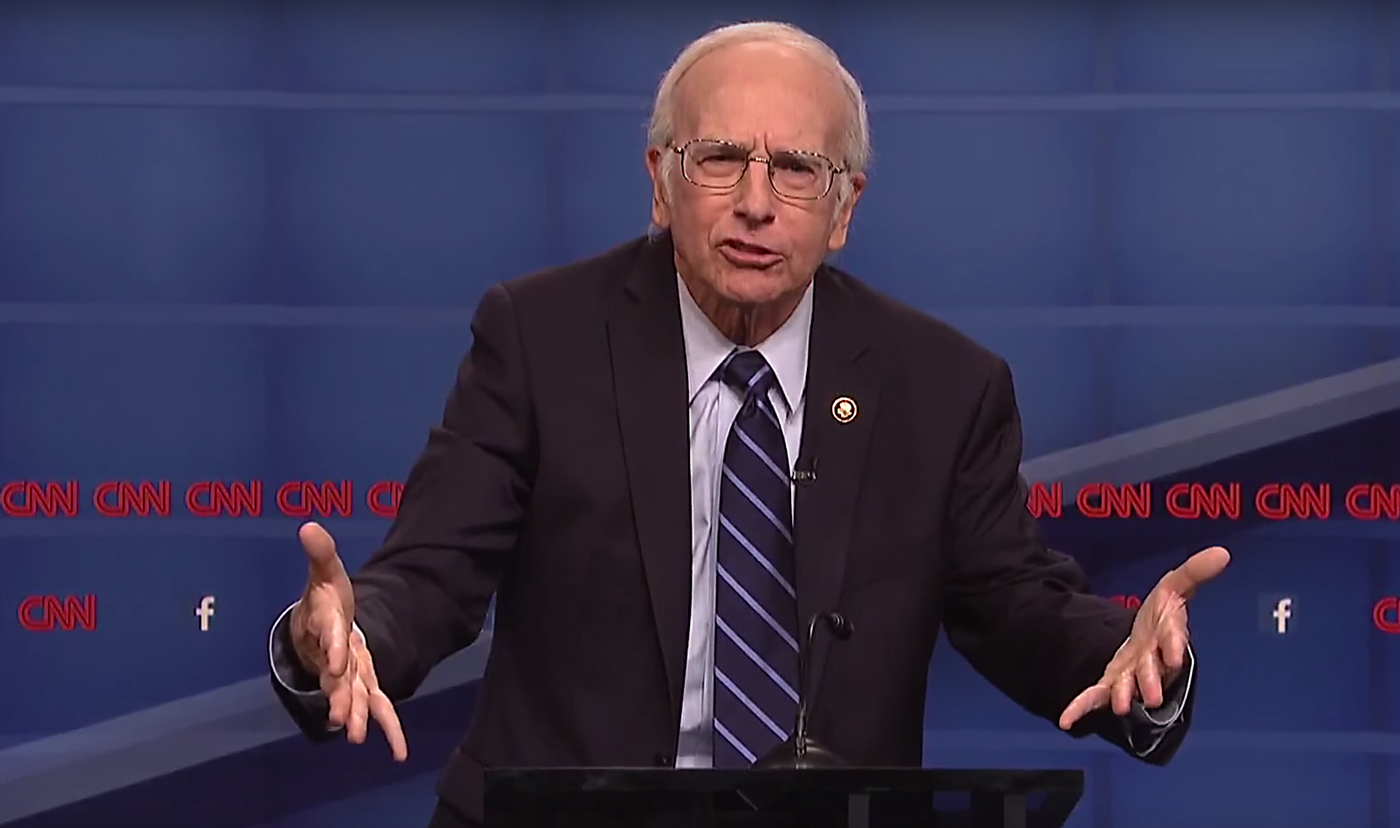 Larry David as Bernie Sanders. Photo by: Saturday Night Live / YouTube