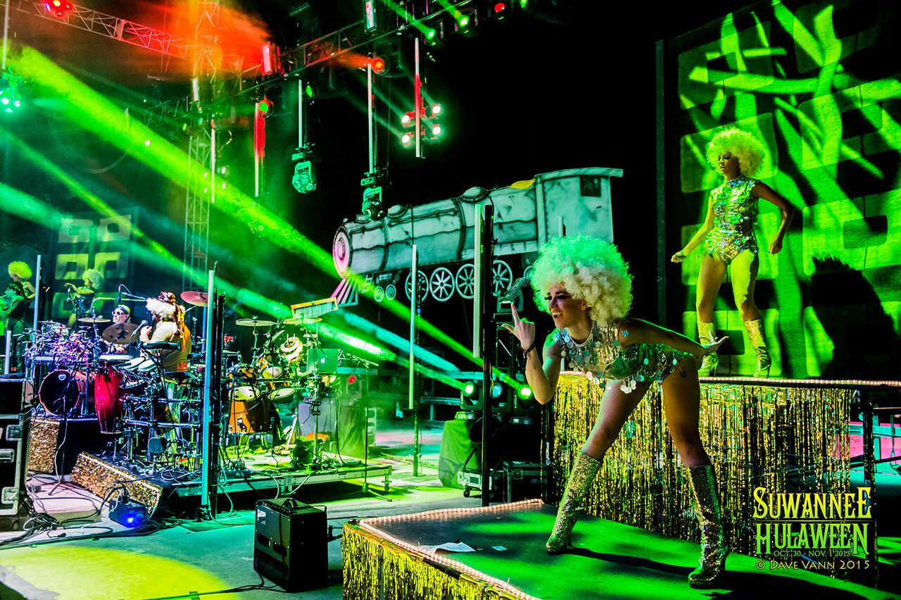 The Sting Cheese Incident with the Ghoul Train at Hulaween 2015. Photo by: Dave Vann